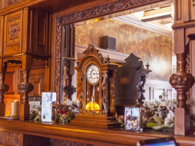 Clock on Fireplace